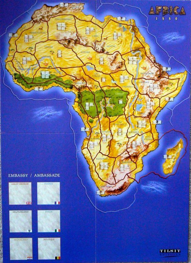 Africa 1880 Map
