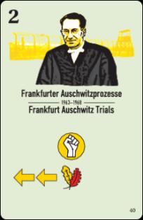 Trials against Nazi criminals? Unrest in the West (yellow fist icon)! Card Frankfurt Auschwitz Trials, CC-BY-SA Histogame/Richard Shako.