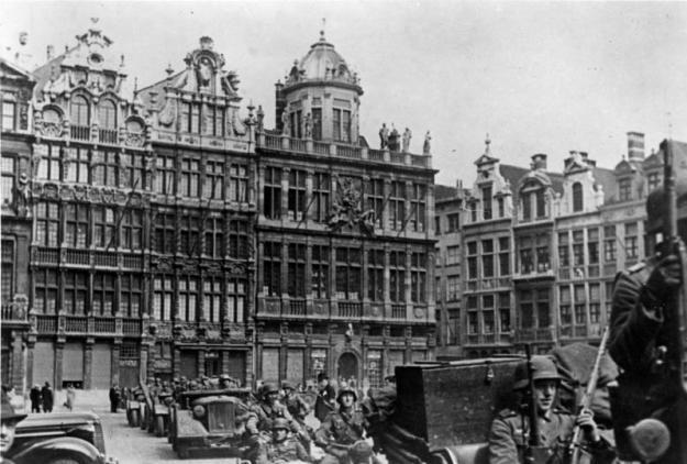 Belgien, deutsche Truppen in Brüssel