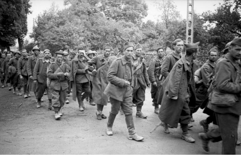 Frankreich, französische Kriegsgefangene