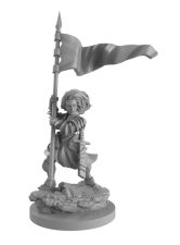 Joan of Arc miniature. ©Mythic Games.