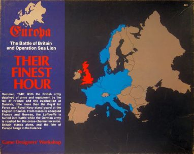 Box cover of Their Finest Hour, ©Game Designers' Workshop.