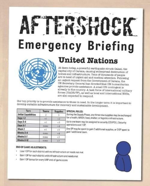 Aftershock UN Briefing