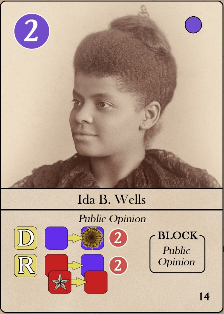 Iconic leaders of the American suffrage movement II: Card Ida B. Wells from The Vote, ©Hollandspiele.
